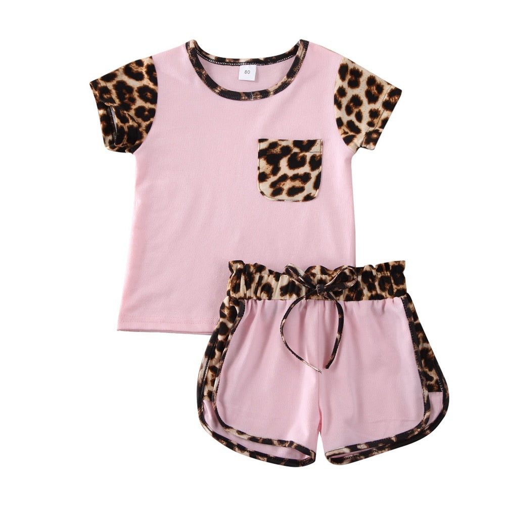 Leopard Playground Outfit - Pink