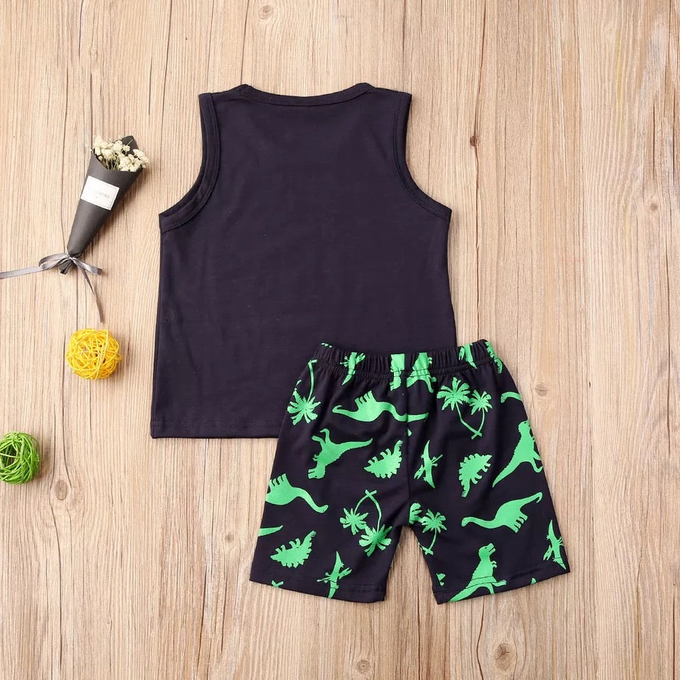 Dinosaur Tank And Shorts Set