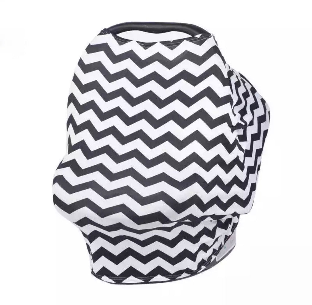 Chevron Print Car Seat Cover - Black