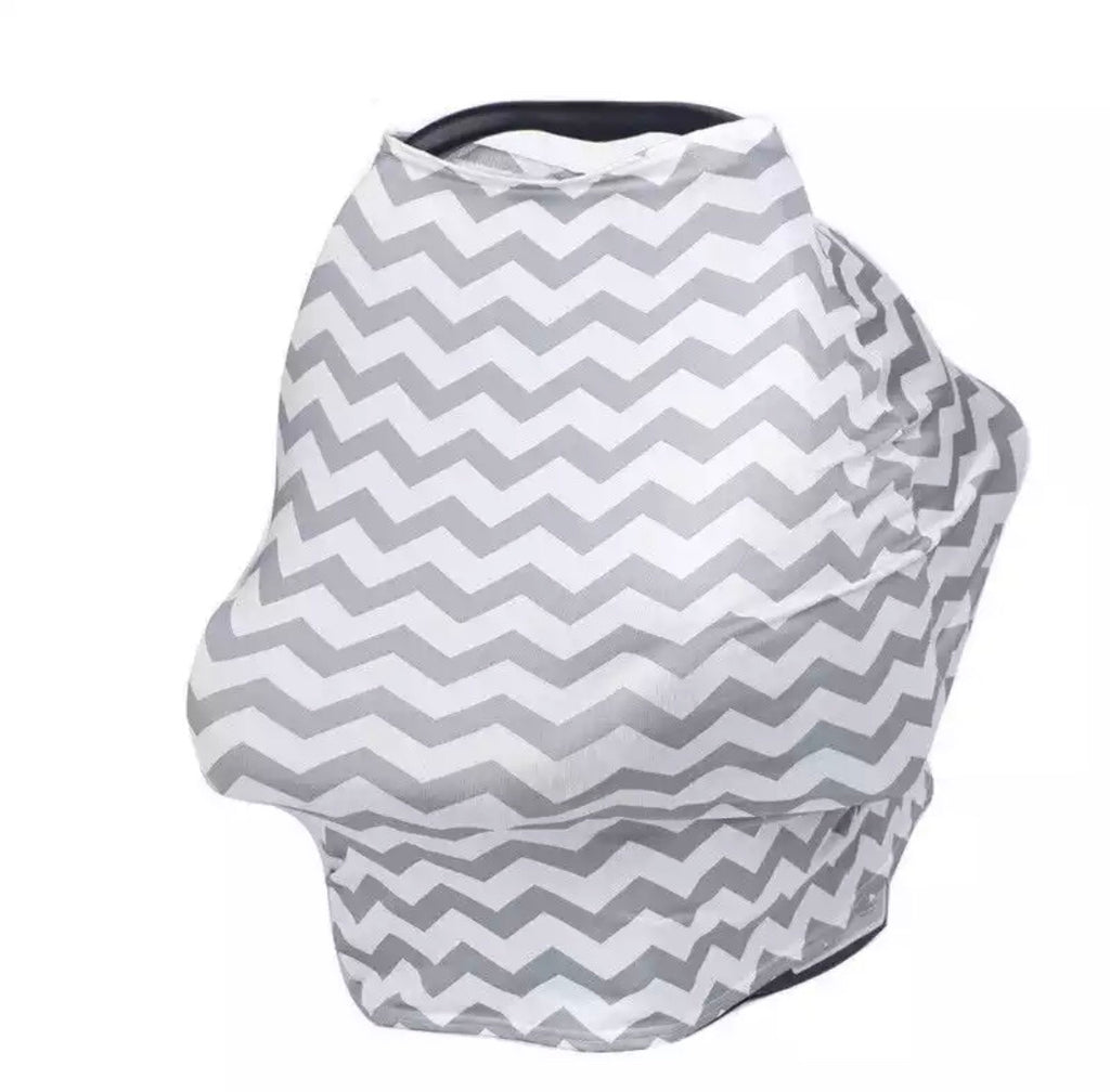 Chevron Print Car Seat Cover - Gray