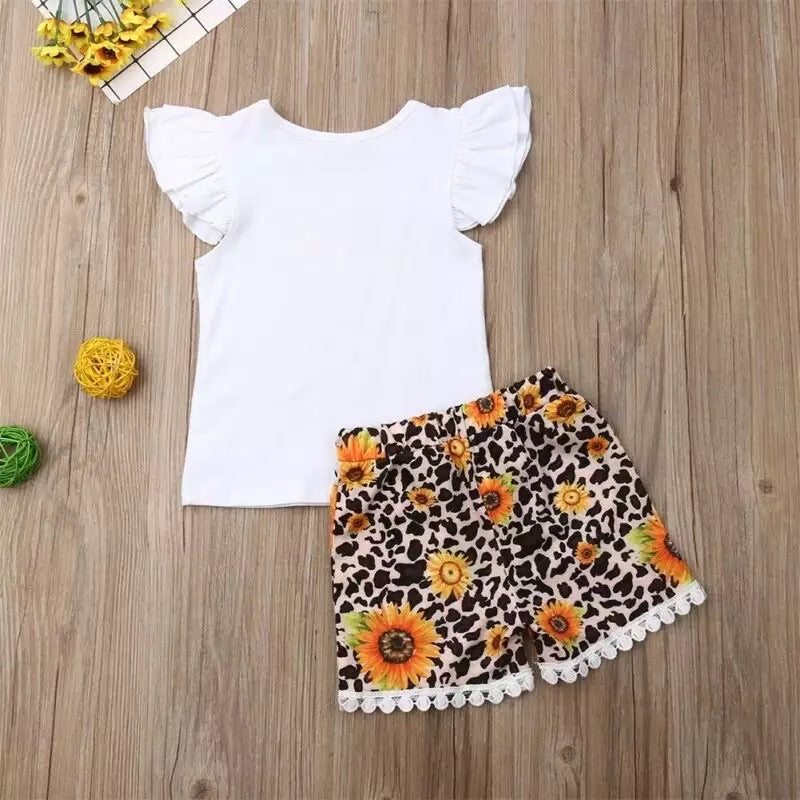 Sunflower and Leopard 2 Piece