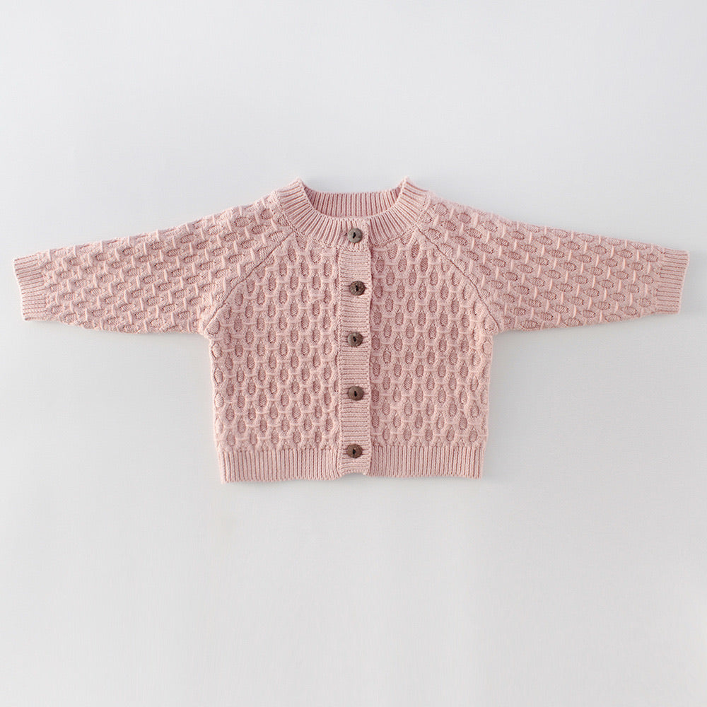 Knitted Baby Cardigan - Pink
