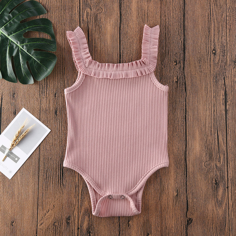 Sophia Button Bodysuit - Pink