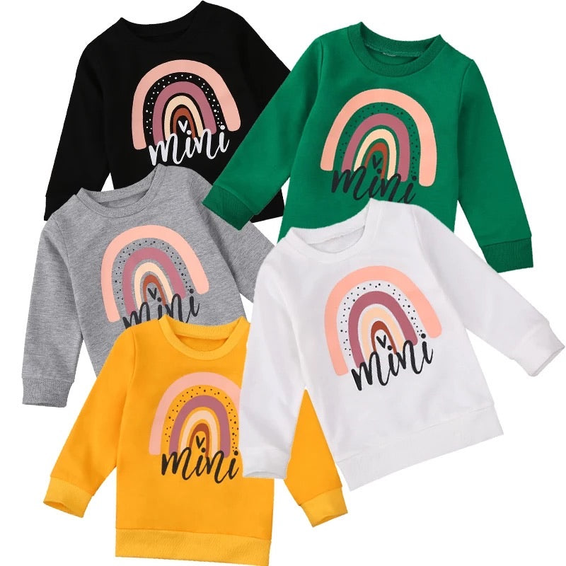Mini Rainbow Sweater - Black