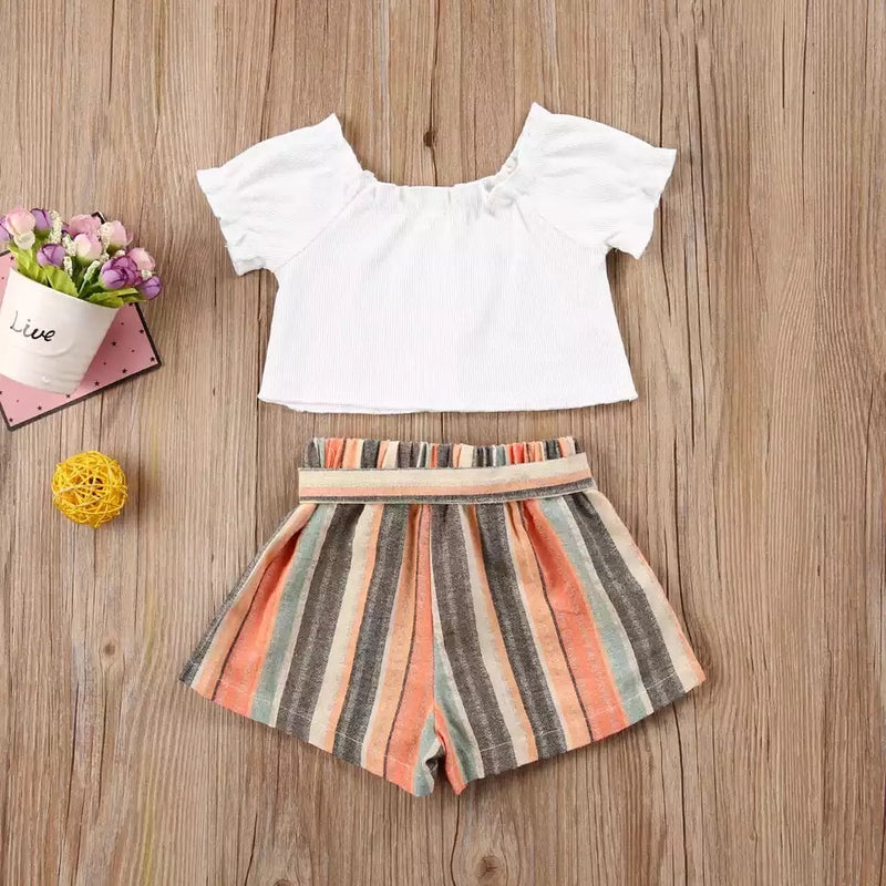 Jessica crop top and shorts set