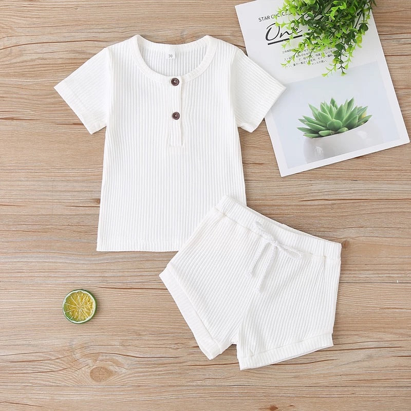 Basic 2 Piece Summer Set - White
