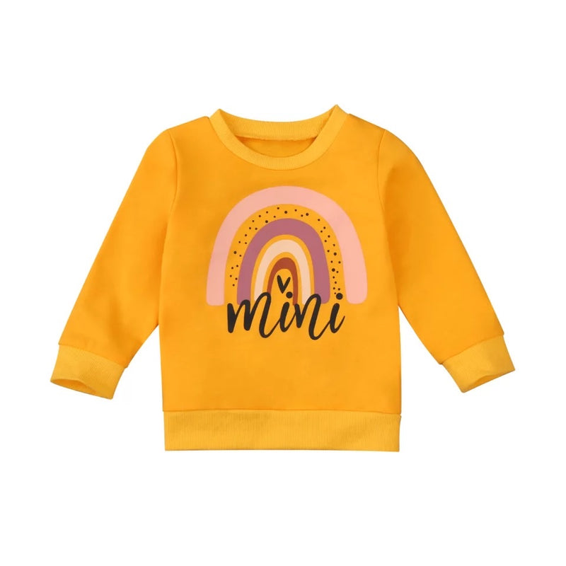 Mini Rainbow Sweater - Yellow