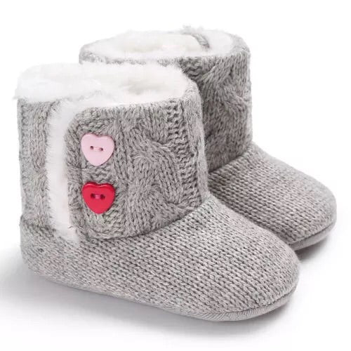 Baby Girl Boots - Gray