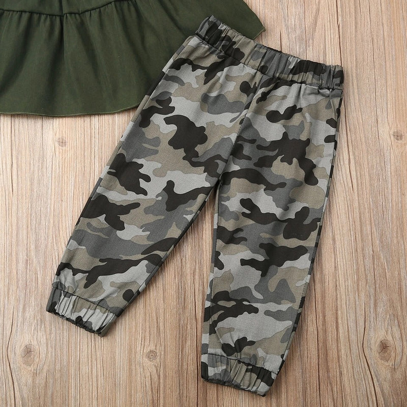 April 2 Piece Camo Set