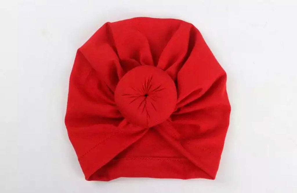Baby Turban Beanie - Red