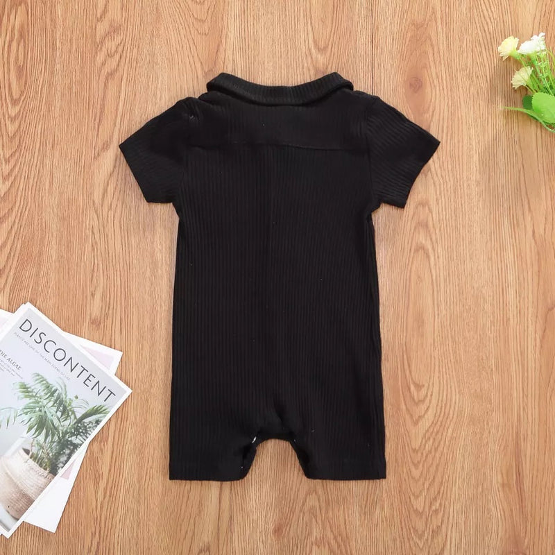 Matthew Solid Romper - Black