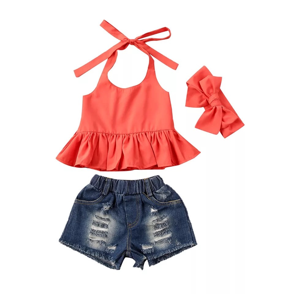 Erika 3 Piece Set - Orange