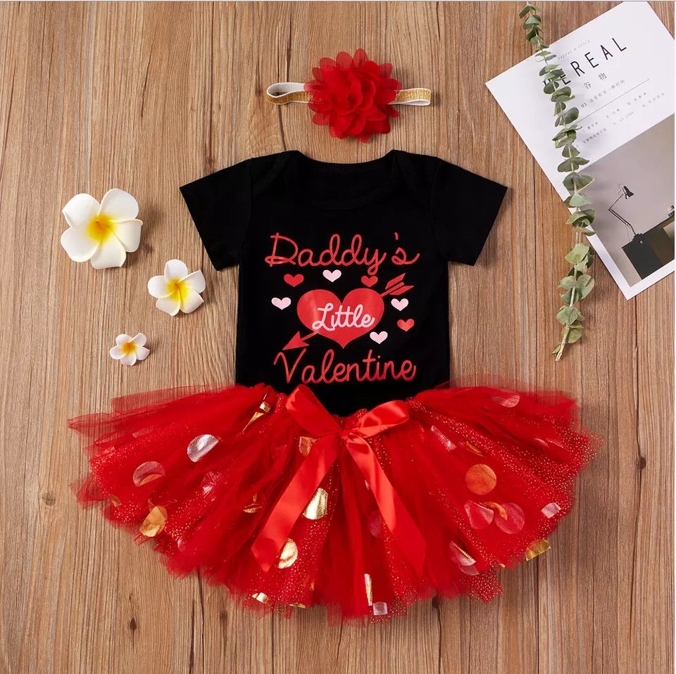 Daddy's little Valentine Tutu Set