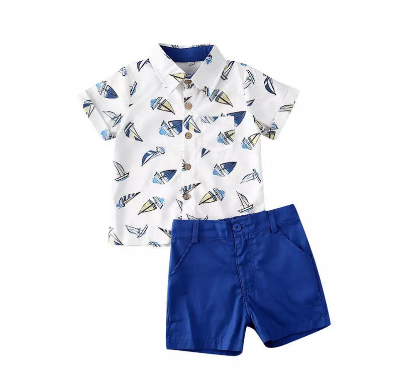 Sail boat gentleman 2 piece