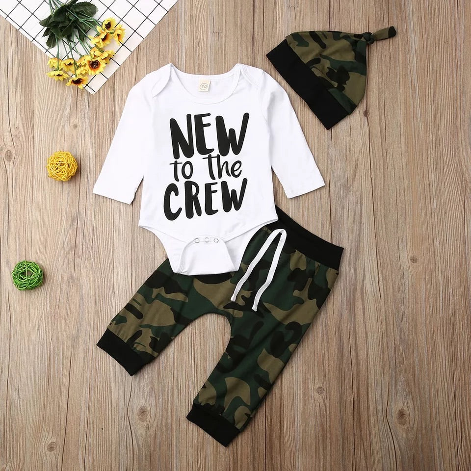 New to the Crew 3 Piece Camo Set