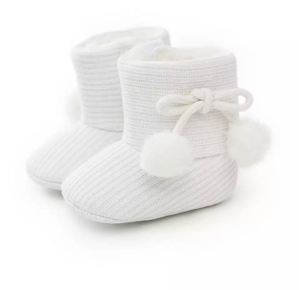 Baby Girl Boots - White