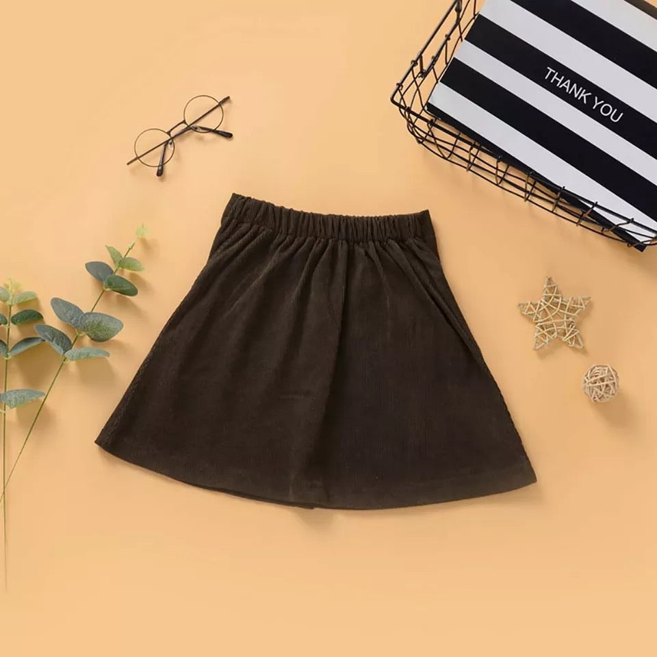 Autumn Corduroy High Waist Skirt