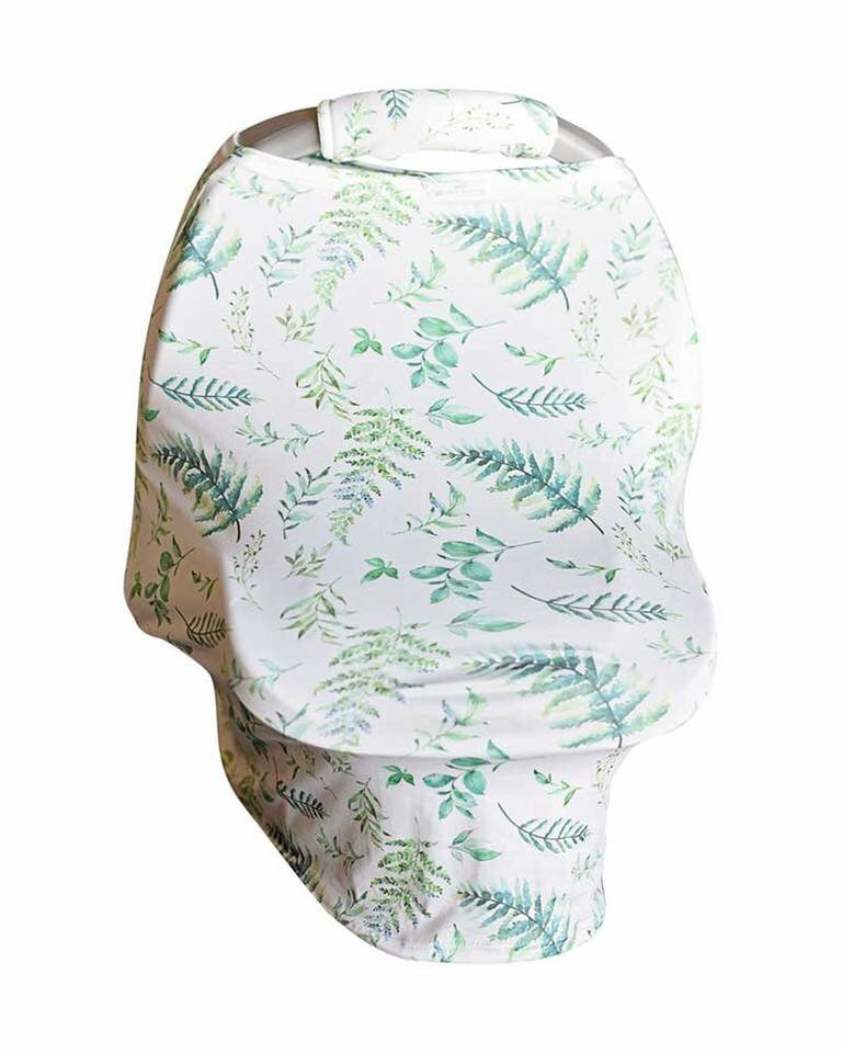 Tropical Print Carseat Cover w/Plush Handle