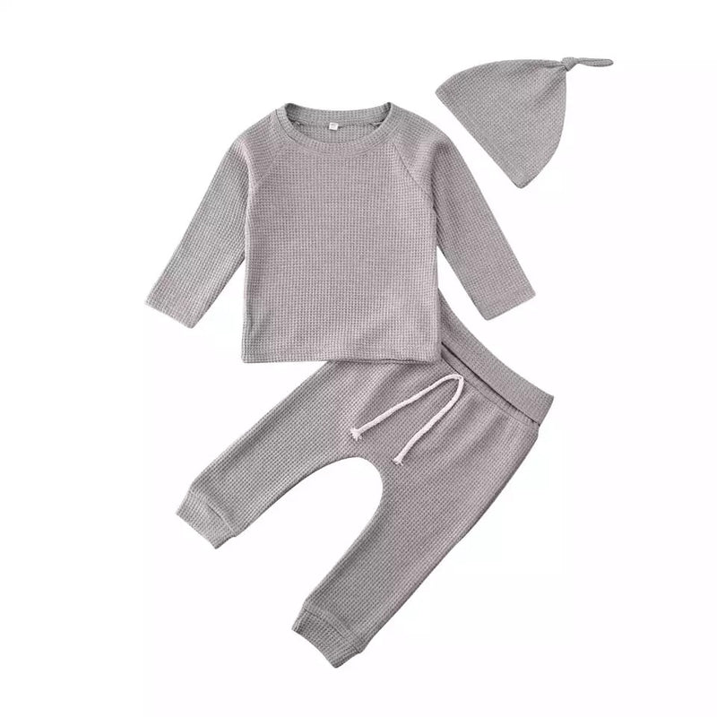 Simple 3 Piece Cotton Set - Gray