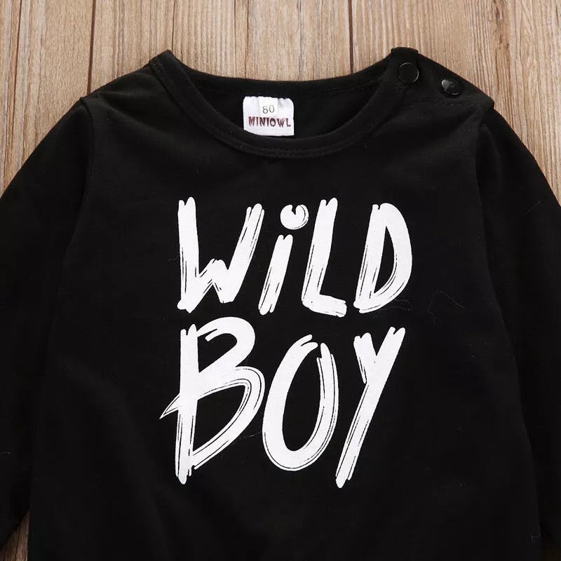 """Wild Boy"" hooded sweater and pants set"
