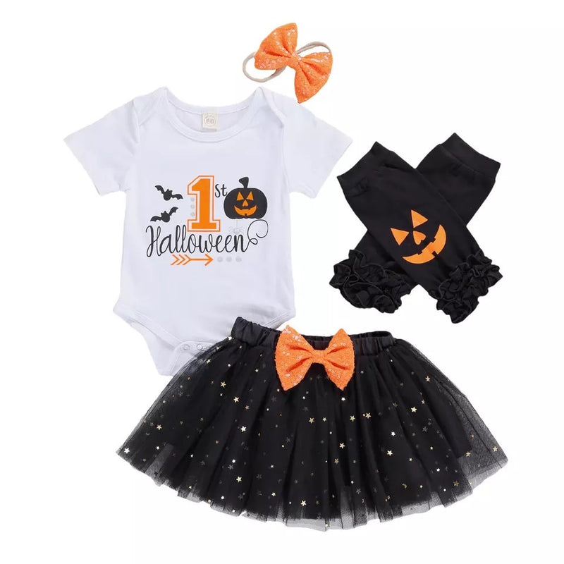 My 1st Halloween Black Tutu 4 Piece