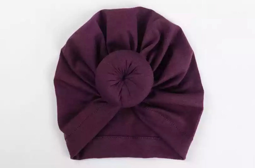 Baby Turban Beanie - Purple