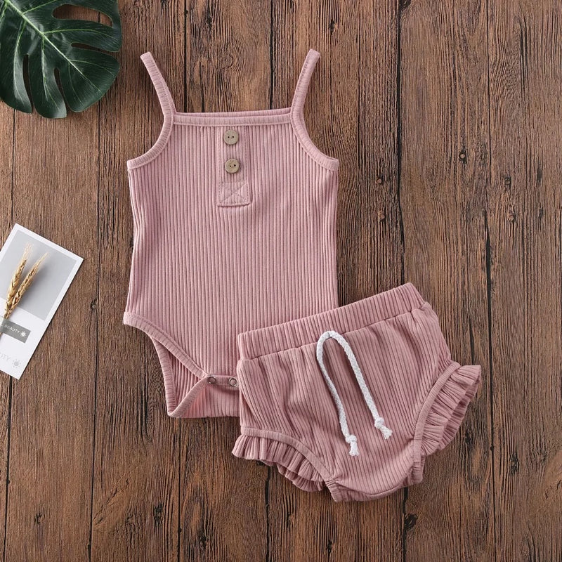 Evelyn 2 Piece Bloomer Set - Mauve