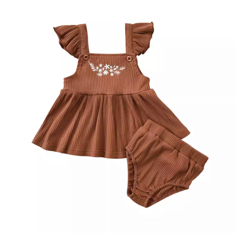 Kristina baby doll 2 piece - Brown