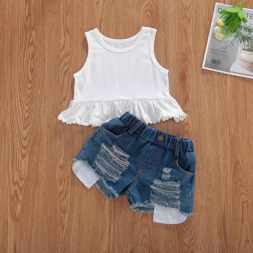 Dream 2 piece crop top and shorts set
