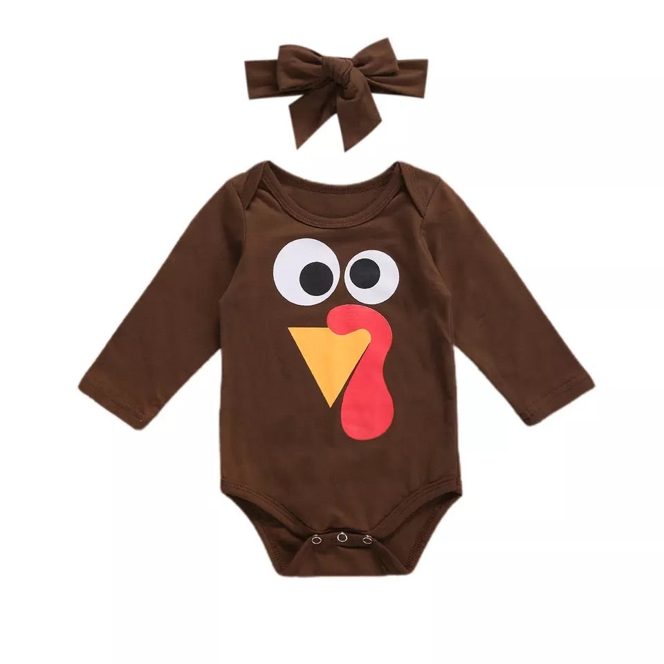 Turkey Long Sleeve Romper Set