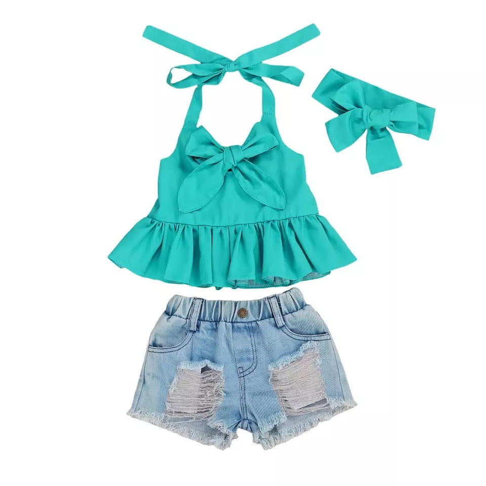 Monica 3 Piece Set - Teal