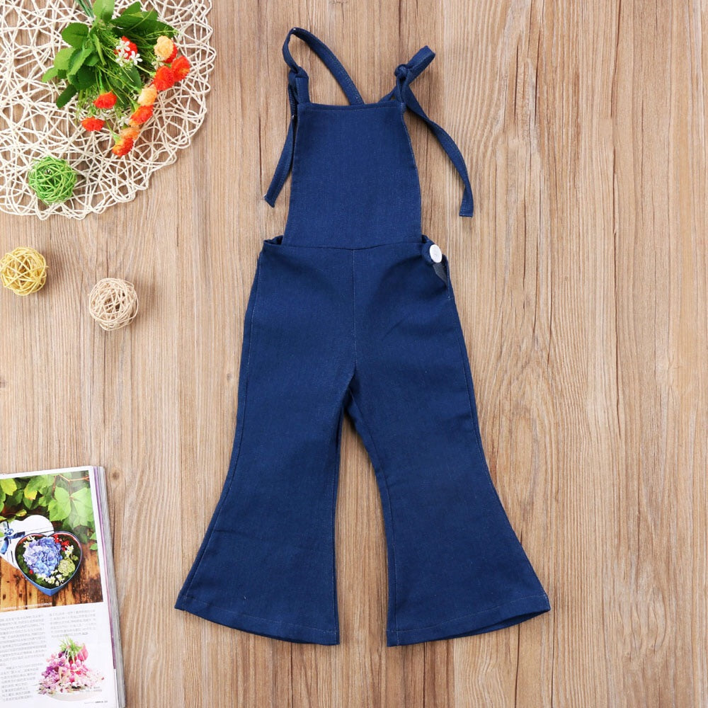 Kammy Cross Back Denim Romper
