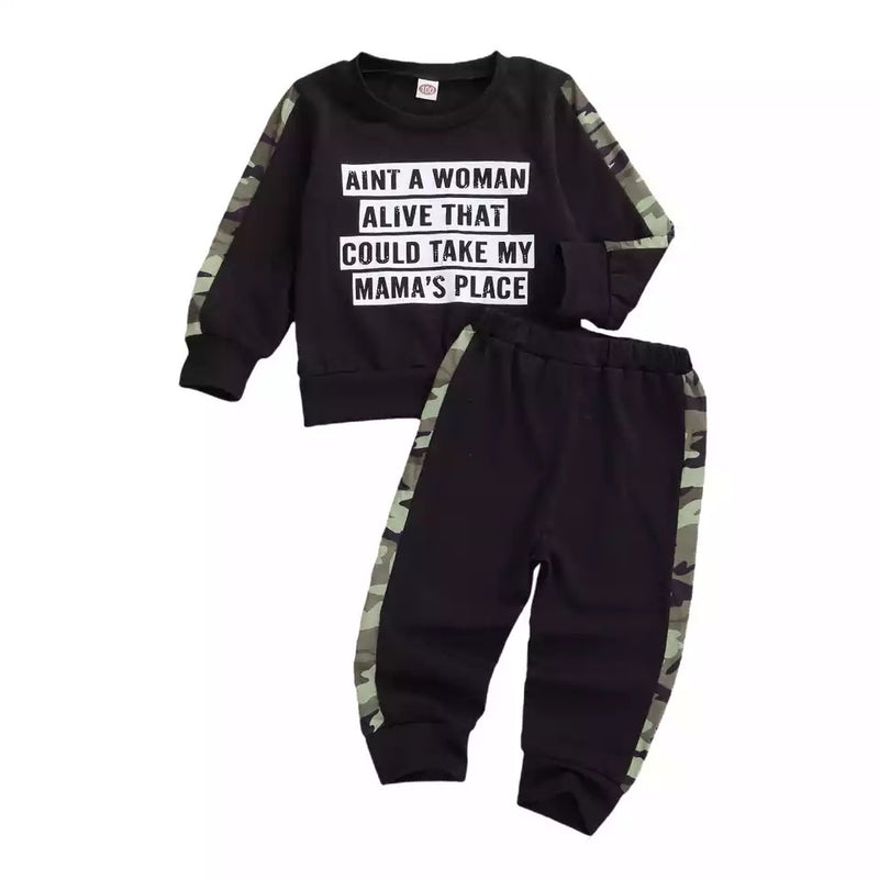 No Woman Can Take My Mamas Place Sweater and Pants Set
