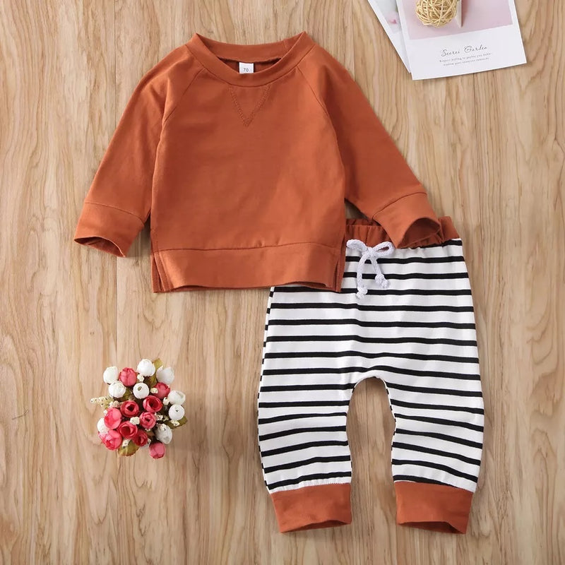 Orange Striped 2 Piece