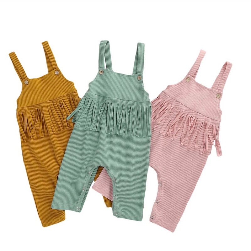 Angelica Fringed Jumpsuit - Pink