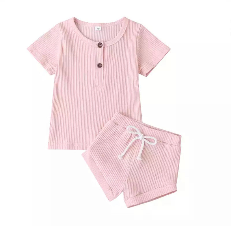 Basic 2 Piece Summer Set - Pink