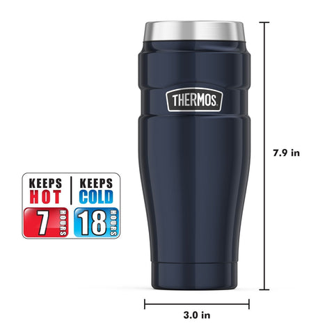 THERMOS® 16-OUNCE STAINLESS STEEL KING TUMBLER, Midnight Blue