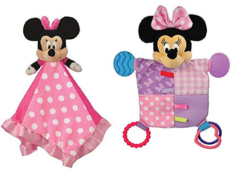 Disney Minnie Mouse Snuggle Blanky + Flat Blanky Teether Set