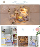 CuteBee DIY 3D Wooden Kitten Diary Dollhouse