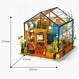 CuteBee DIY Wooden Kathy's GreenHouse Dollhouse
