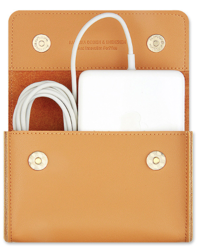 Leather Macbook Accessories Pouch