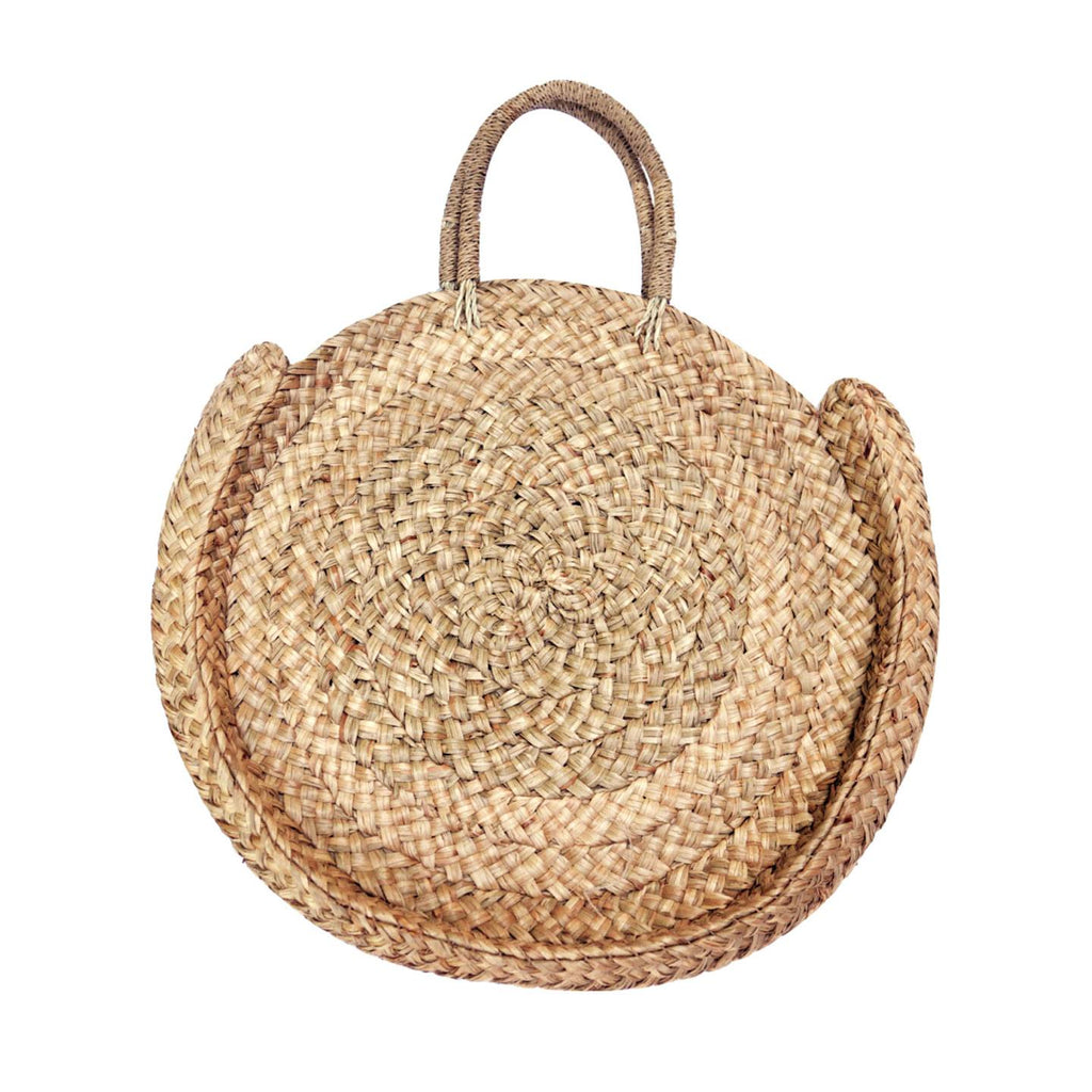 Large Round Bali Straw Bag