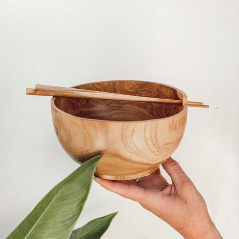 Wooden Bowl and Chopsticks