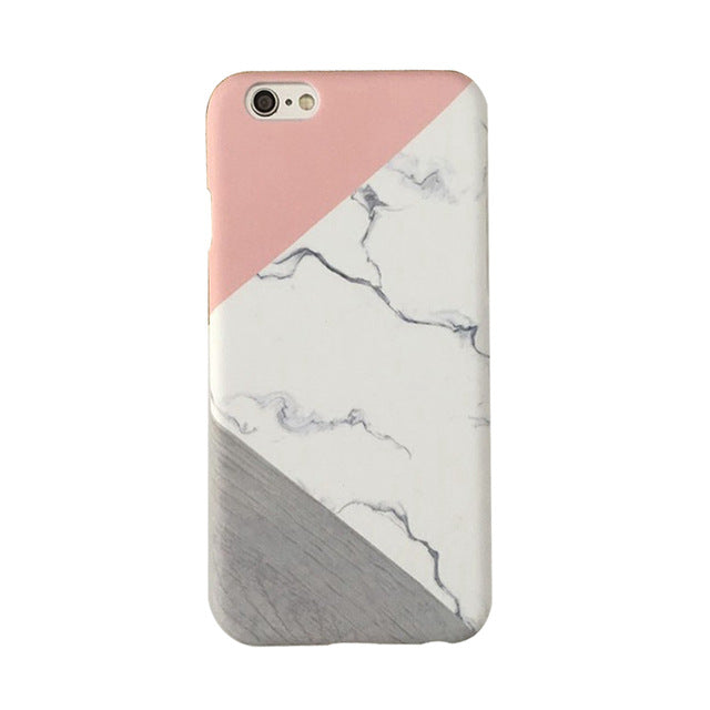 Marble and Wood iPhone Case