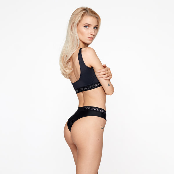 SECOND SKIN BLACK KNICKERS