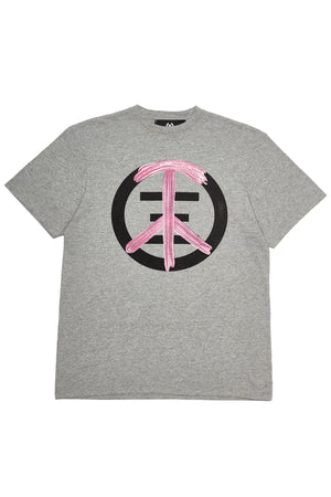 spleen and love piece and love t-shirt grey