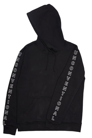 Hoodie unconventional cotton black made in Italy