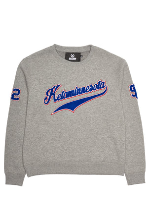 Ketaminnesota spleen grey cotton sweater