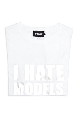 I hate models white silver t-shirt cotton white made in italy