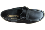 Grasshopper Lace Up School Shoes - Black
